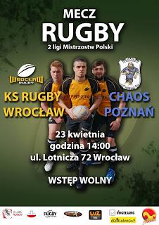 3 kolejka rundy finałowej: Rugby Wrocław – Chaos Poznań