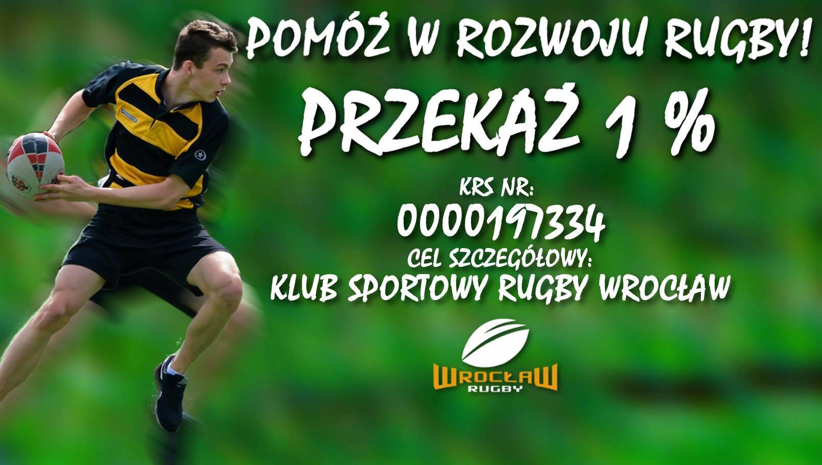 Pomóż w rozwoju rugby! Podaruj 1%!