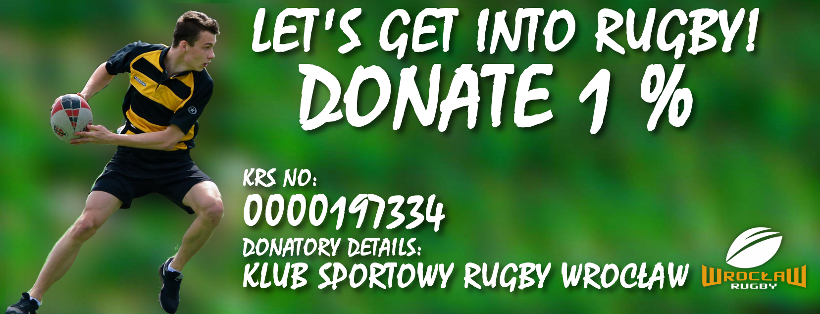 Help us getting into rugby! Please donate 1%!