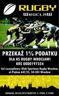 1% dla Rugby Wrocław – Dziękujemy!