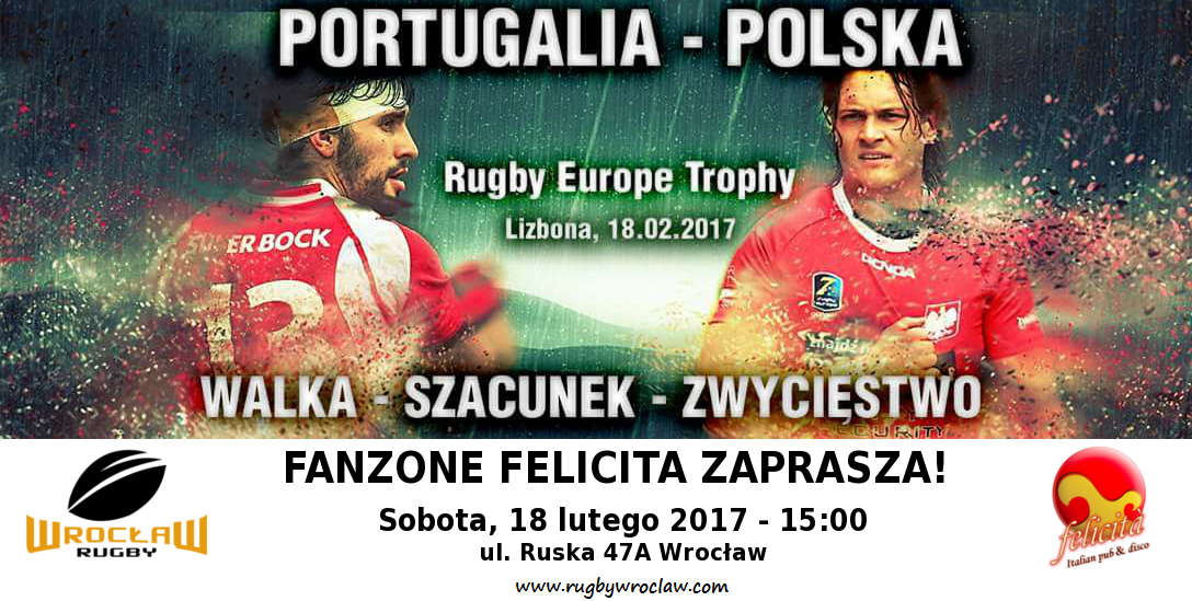 Portugalia – Polska -Rugby Europe Trophy transmisja we Wrocławiu!